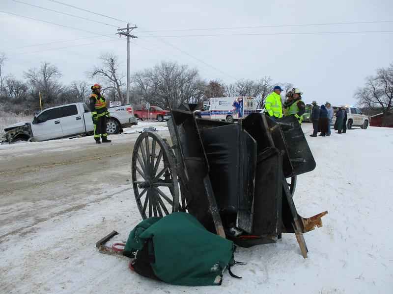 Cresco, IA Man Suffers Serious Head Injuries after His Buggy was Hit by a Pickup Truck