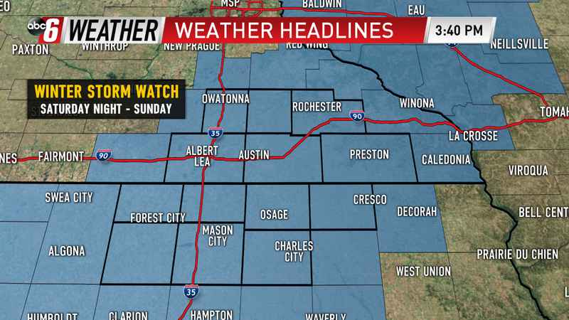 Weekend Winter Storm a Two Parter