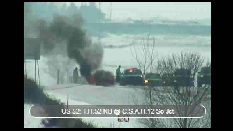 Authorities Responding to Vehicle Fire on US 52 in Oronoco