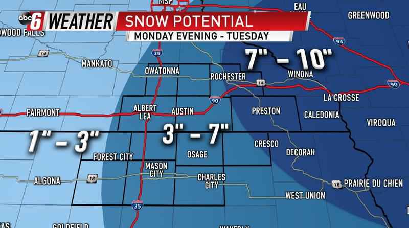 Big Snow Monday Night - Tuesday Morning