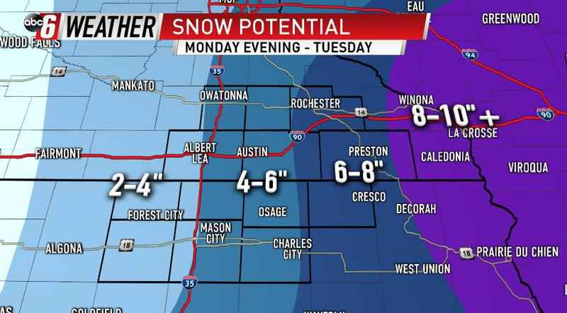 Timing Out Tuesday's Snow