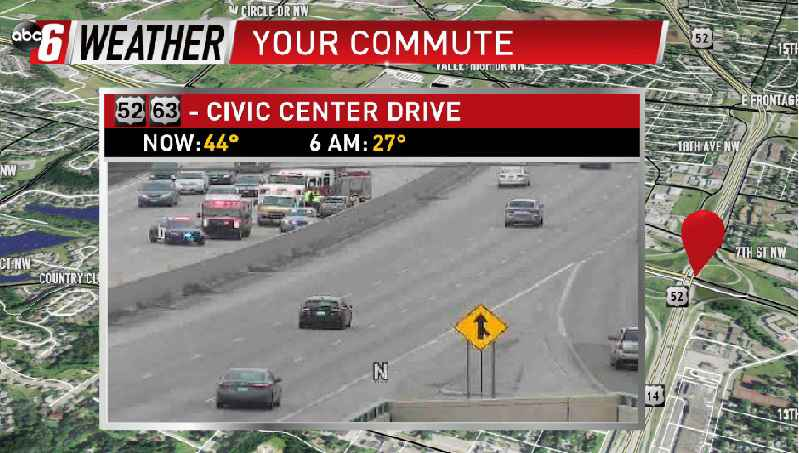 Traffic Backed-Up at Hwy 52 Near Civic Center Drive