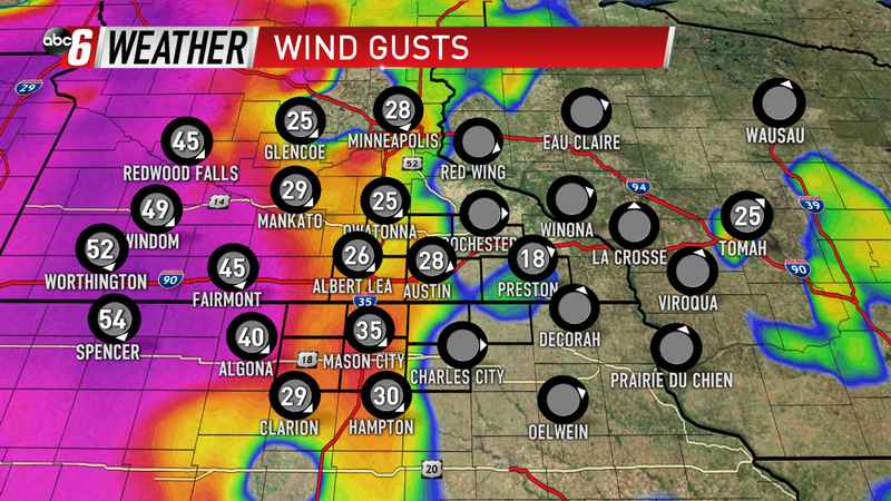 Strong Wind Closes Out Storm