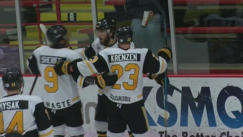 Zapata's Two Goals Help Bruins Double Up Aberdeen, 4-2; Force Game 4