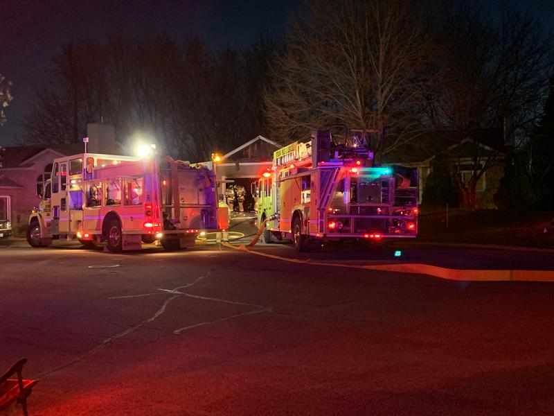 Firefighters Tackle Garage Fire In Byron