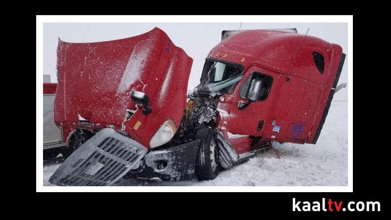 Multiple Semi Crashes Snarl Traffic, Temporarily Close Interstate 90 Near Rochester