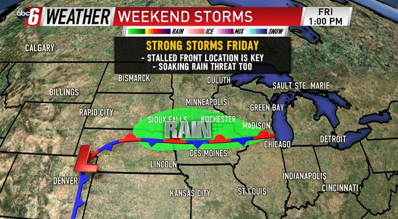 Staying Soggy & Stormy Into The Weekend