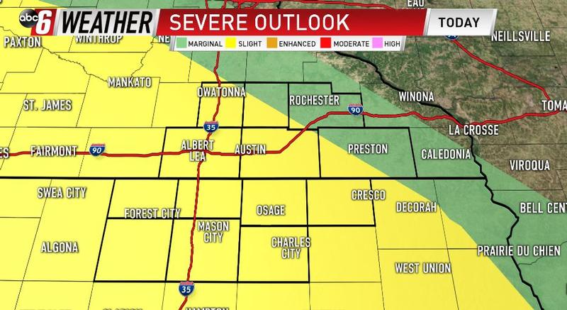 Slight Risk For Severe Weather For Saturday