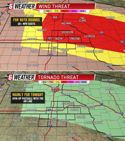 Two Rounds Of Storms Thursday; Both Strong/Severe