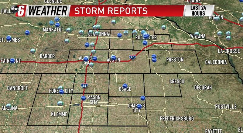 Saturday's Storm Reports