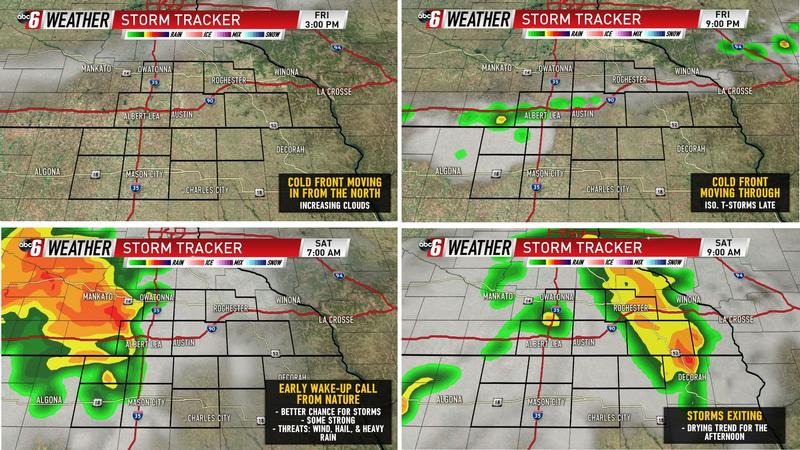 Timing Out Friday & Saturday's Storms