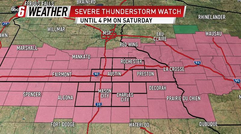 Severe Thunderstorm Watch For Saturday