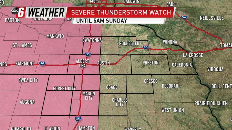 Severe Thunderstorm Watch Through Early Morning