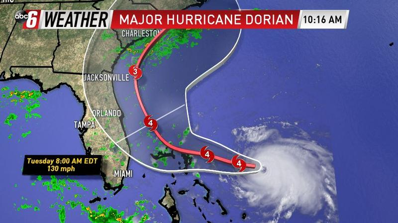 Dorian Continues His March Towards the US