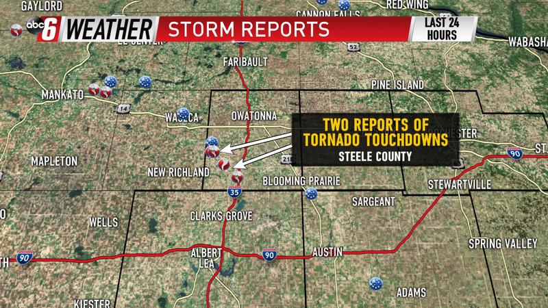 Two Reports of Tornadoes Tuesday