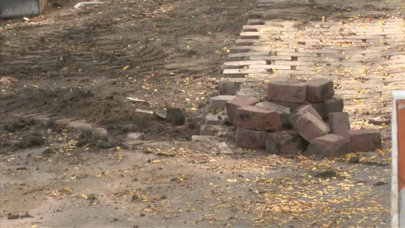 Construction to Restore Historic Brick Street Underway