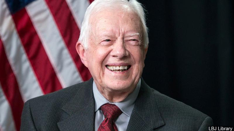 Former President Jimmy Carter hospitalized for swelling on his brain