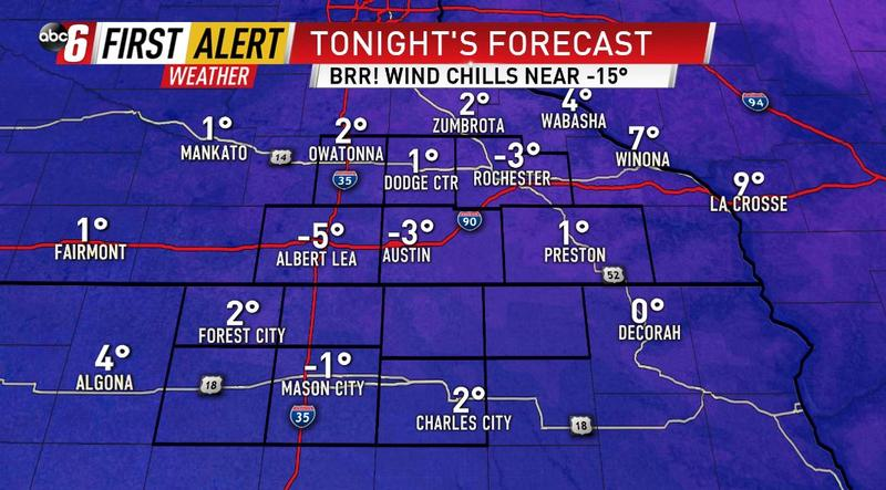 Cold air continues into Tuesday