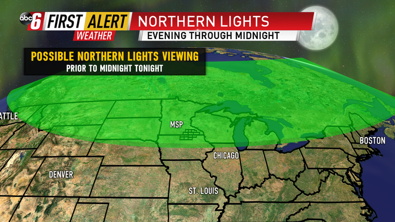 Potential Northern Lights viewing tonight