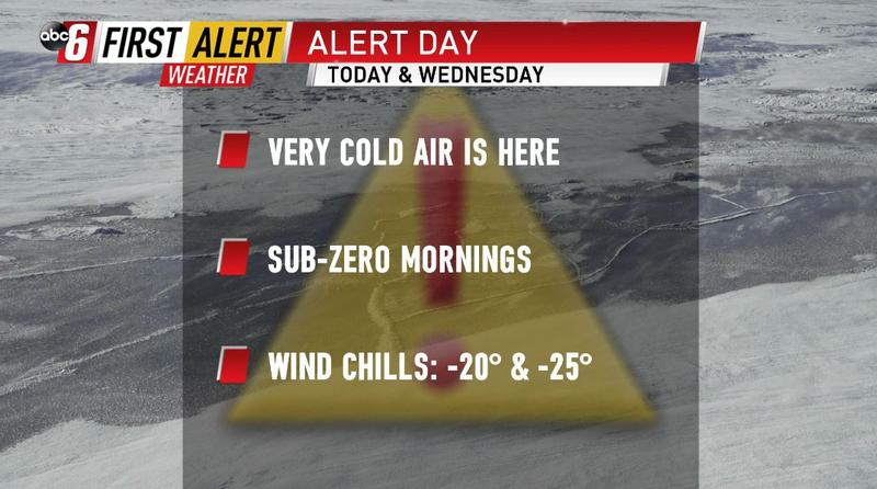 ALERT DAY Wednesday - Very cold air