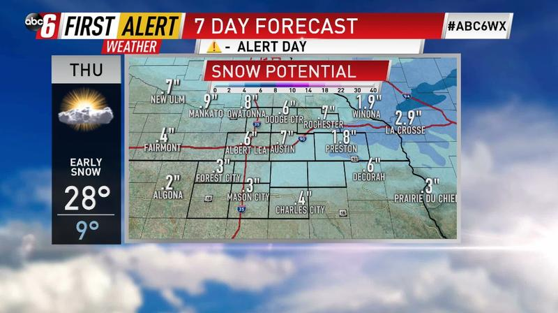 Tracking Thursday's snow