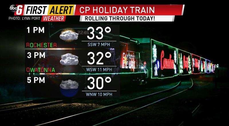 CP Holiday Train stopping through the area today