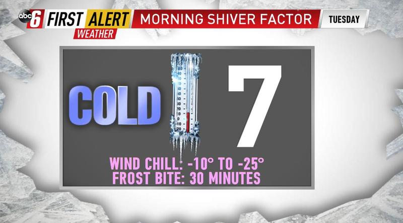 Tuesday's ALERT DAY - Very cold air