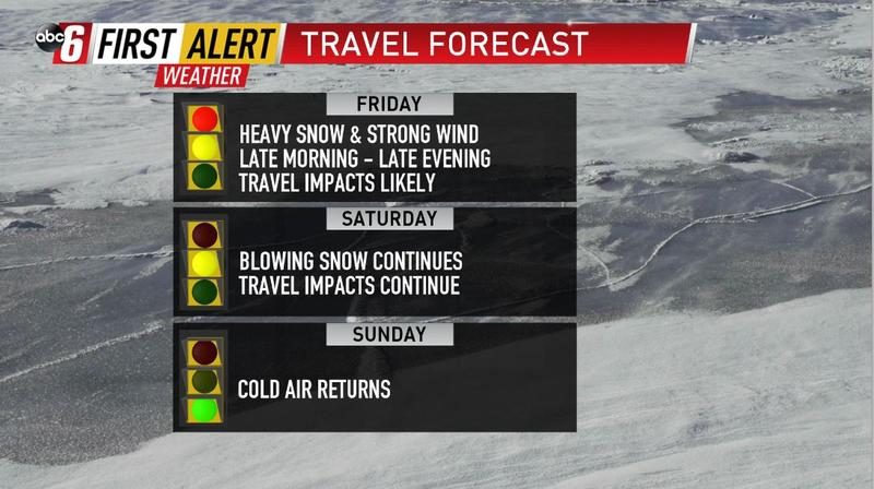 Difficult travel expected Friday & Saturday