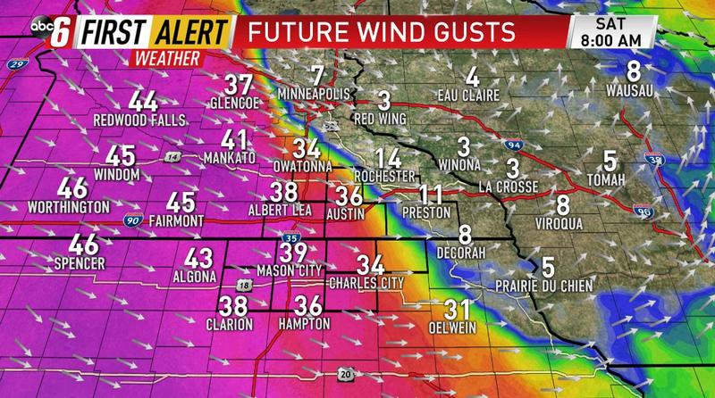 Wind becomes the bigger issue Saturday