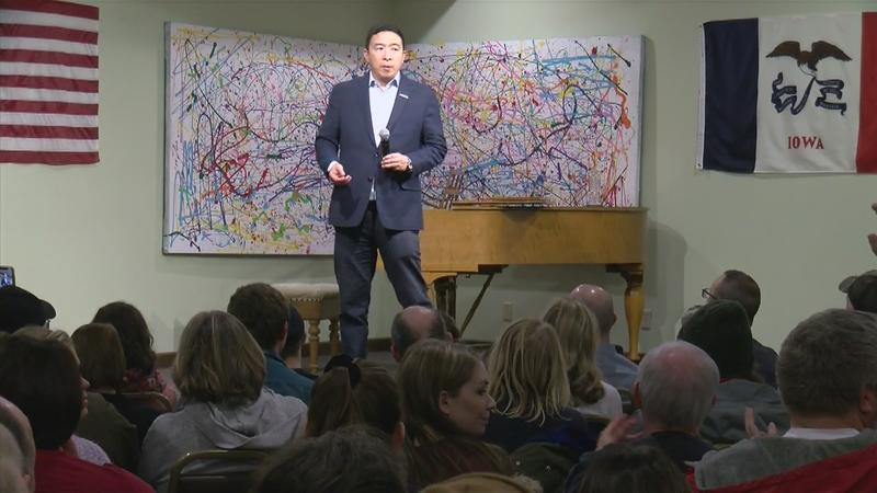 Andrew Yang visits Mason City, highlights stronger economy