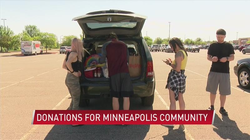 Local Group Travels to Minneapolis with car full of donated supplies