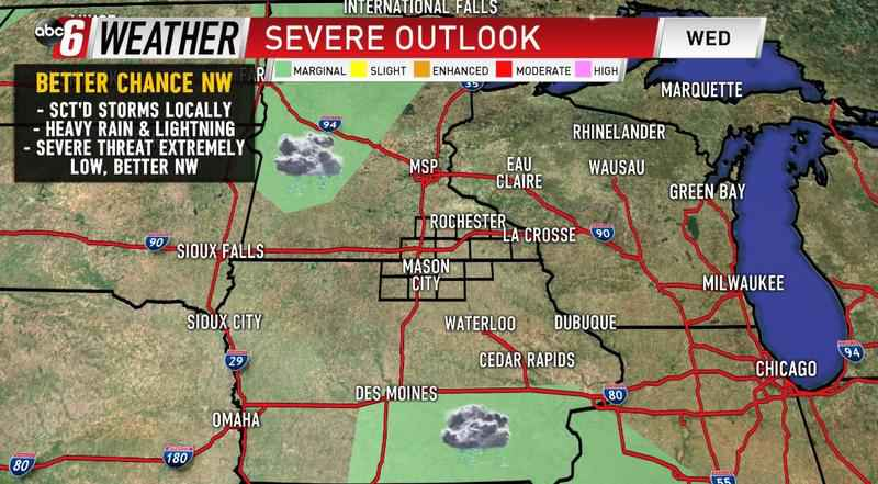 Storms return Wednesday