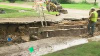 Sewer Line Collapse Causing Untreated Wastewater to be Pumped into the Winnebago River