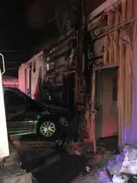 One Person Injured after Vehicle Crashes into Building
