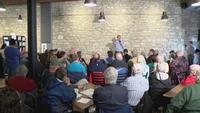 O'Rourke Outlines Details of Climate Plan at Mason City Town Hall