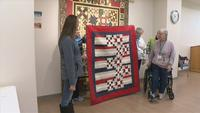 Local quilters honor a female veteran