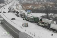 UPDATE: 20 vehicles, 6 semis involved in pile-up on I-35 near Owatonna