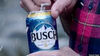 "1"" snow equals $1 for Busch fans"