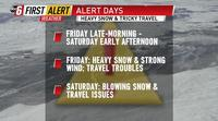 Potent winter storm on track Friday - Saturday