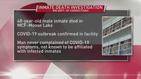 Inmate at MCF-Moose Lake dies, investigation being conducted