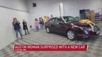VIDEO: Community comes together to give Austin woman a new car
