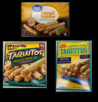 Frozen taquito and chimichanga products being recalled