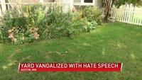 Austin man of Chinese heritage finds words 'China virus' burned into front yard
