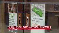 Unemployment rates are dropping across Minnesota, including Rochester