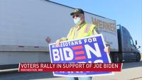 Voters in Rochester rally for Joe Biden