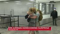 Minnesota airman homecoming surprise