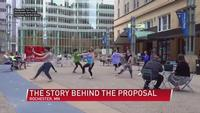 The story behind the flash mob proposal